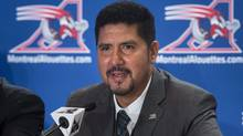 Montreal Alouettes quarterback Anthony Calvillo announces his retirement after a 20-season career in the CFL, Tuesday, January 21, 2014 in Montreal. (The Canadian Press)
