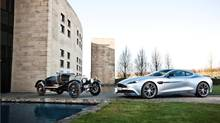 The A3 prototype, the oldest surviving Aston Martin, and the new Vanquish. (Aston-Martin)
