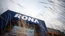 An exterior view of a hardware store Rona Inc., in Brossard, Quebec, on January 30, 2013. (Christinne Muschi For The Globe and Mail)