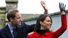 Britain's Prince William and Kate Middleton during a visit to St Andrews University in Scotland Friday on Feb. 25, 2011. (Andrew Milligan/THE CANADIAN PRESS)