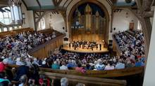 Tafelmusik performed preview concerts for long-time subscribers at the orchestra's just-renovated performance space, the Jeanne Lamon Hall at Trinity-St. Paul's Centre in Toronto. (Gary Beechey)