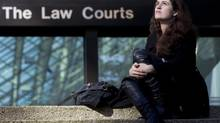 Olivia Pratten outside the B.C. Supreme Court in Vancouver, in October 2010. (Jonathan Hayward/The Canadian Press)