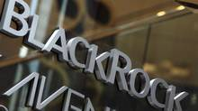 The BlackRock logo is seen outside of its offices in New York January 18, 2012. (SHANNON STAPLETON/SHANNON STAPLETON/REUTERS)