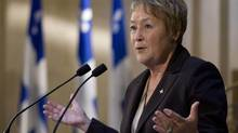 Quebec Premier Pauline Marois. (Jacques Boissinot/THE CANADIAN PRESS)