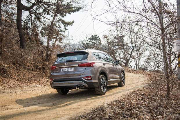 Hyundai's H-Trac all-wheel-drive system will be present on most Santa Fe models.