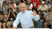 Ken Loach appears at the photocall for his film Route Irish, May 21, 2010, in Cannes. (Valery Hache)