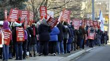Elementary teachers picket in front of York Region District School Board offices. in Aurora, December 13, 2012. (J.P. Moczulski for The Globe and Mail) (J.P. MOCZULSKI For The Globe and Mail)