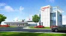 "The proposed new ""event centre"" across from the pitlane at Canadian Tire Motorsport Park. (Courtesy of Canadian Tire Motorsport Park)"