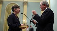 Kellie Leitch is sworn in as Minister of Labour at Rideau Hall on July 15, 2013. (DAVE CHAN FOR THE GLOBE AND MAIL)