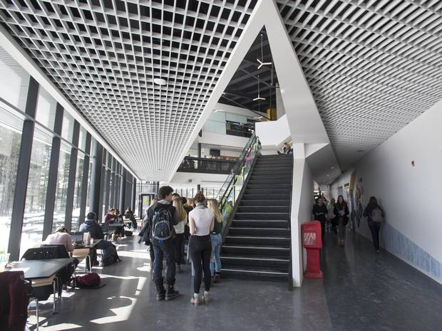 The 34,000-square-foot, $16-million student centre opened this past fall.