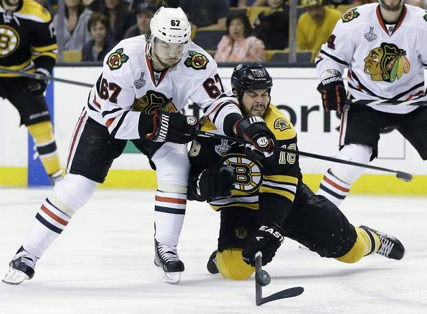 Nathan Horton playing for the Boston Bruins in 2013.