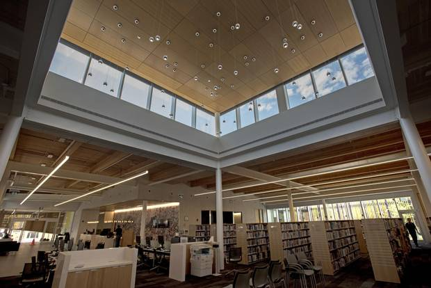 Interiors of the new Albion Library, located at 1515 Albion Rd.