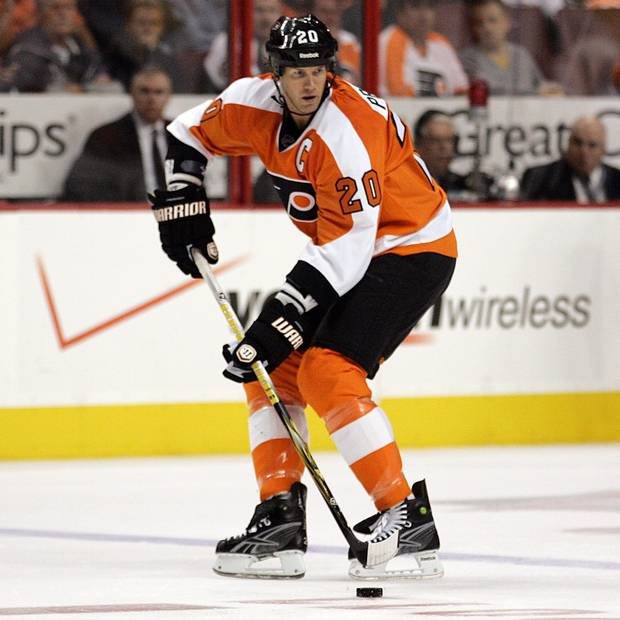 Chris Pronger playing for the Philadelphia Flyers in 2011.