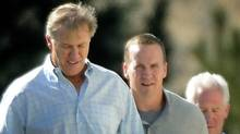 John Elway and Peyton Manning on March 9. (John Leyba/The Associated Press/John Leyba/The Associated Press)