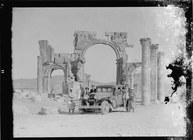 The ruins of Palmyra are shown in an archival photo.