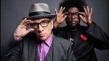 Elvis Costello and Ahmir Thompson, a.k.a. Questlove.