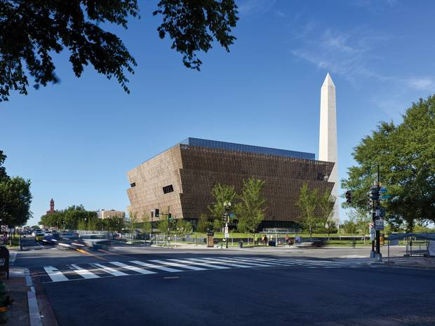 The National Museum of African American History and Culture in Washington.
