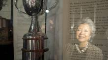 The Clarkson Cup is seen in the Hockey Hall of Fame in Toronto on Thursday March 7, 2013. (Frank Gunn/THE CANADIAN PRESS)