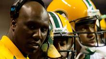 Edmonton Eskimos' head coach Kavis Reed looks on from the sidelines while playing the B.C. Lions during the second half of a CFL football game in Vancouver, B.C., on Saturday October 29, 2011. THE CANADIAN PRESS/Darryl Dyck (Darryl Dyck/CP)