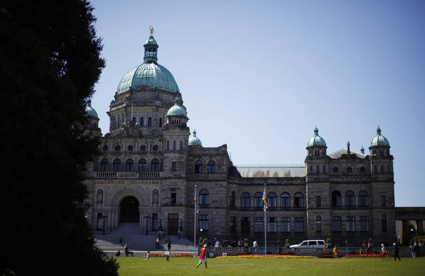 The provincial legislature in Victoria.