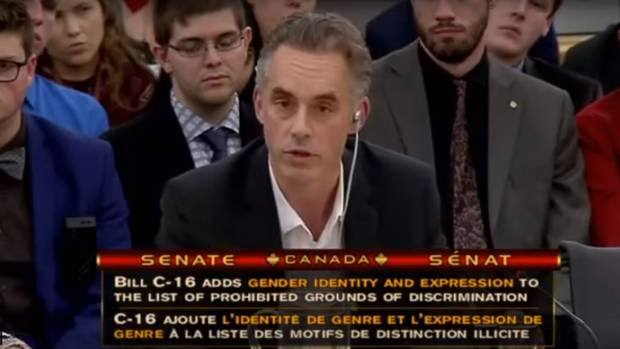 Jordan Peterson testifies at Senate hearings on Bill C-16.
