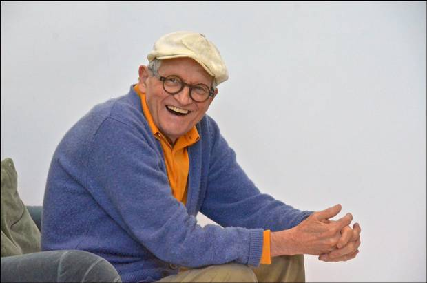David Hockney in Los Angeles on March 9, 2016 .