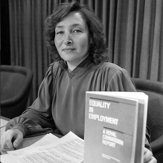 In 1984, Justice Rosalie Abella delivered the federal report on equal employment that brought her to national prominence before her 40th birthday.