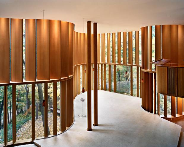 One of the most photographed homes in Canada, Shim-Sutcliffe's Integral House features a concert hall that overlooks Toronto's Don Valley.