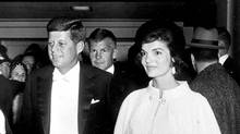 President Kennedy and Mrs. Kennedy arrive for Inaugural Ball, 1961. (Abbie Rowe/White House /National Archives)