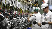 Honda's Alliston, Ont., engine plant (Deborah Baic/Deborah Baic/The Globe and Mail)