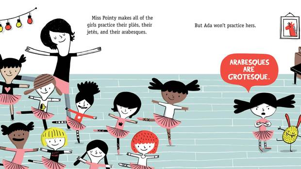 Arabesques are grotesque, proclaims the protagonist of The Cranky Ballerina, Elise Gravel's latest children's comic.