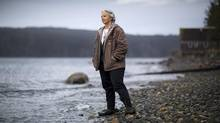 Biologist Alexandra Morton at her home on Sointula on Malcolm Island, off the northeast coast of Vancouver Island, near Port McNeill. (John Lehmann/The Globe and Mail)
