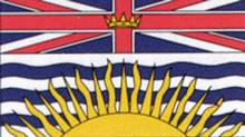 Provincial flag of British Columbia, authorized by an Order-in-Council June 27, 1960. (Globe files/Globe files)