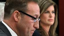 Defence Minister Peter MacKay (left) is warning the Conservative Party against tampering with its leadership-selection rules, which currently give equal weight to each riding association, regardless of its size. (FRED CHARTRAND/THE CANADIAN PRESS)