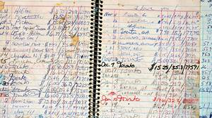 Peter Cheney's gas fill up logbooks. He and his wife logged every filll up from March of 1984 until January 2005.