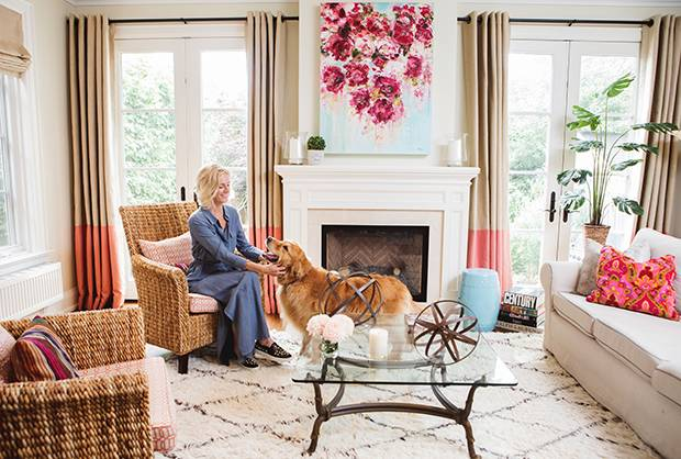 The September, CEO and Founder Christine Carlton is photographed in her Toronto living room on July 28, 2017.