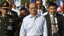 President Thein Sein of Myanmar visits Thailand in this photo from July. (Chaiwat Subprasom/Reuters)
