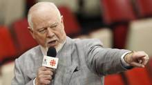 Canadian television sports personality Don Cherry tapes a segment for the Stanley Cup finals at Joe Louis arena in Detroit May 25, 2008. REUTERS/Shaun Best (SHAUN BEST)