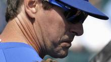 Toronto Blue Jays coach Chad Mottola before their Grapefruit League baseball game against the Pittsburgh Pirates in Bradenton, Florida March 4, 2012. (MIKE CASSESE/REUTERS)