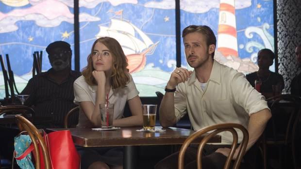 Emma Stone and Ryan Gosling in La La Land.