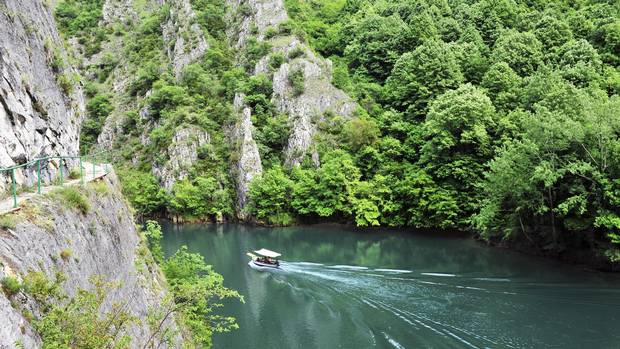 Matka Canyon, sits about a 20-minute drive out of Skopje. Even as one of Macedonia's most-visited attractions, you'll find just a few tourists waiting to catch the dinghy.