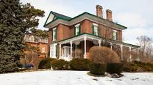 The Port Hope, Ont. home of Carl Swanston and Sarah Cashman, an 1858 Regency Villa style house they will slowly restore. (James Ireland/James Ireland)