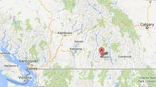 Winlaw, B.C. as displayed on Google Maps.