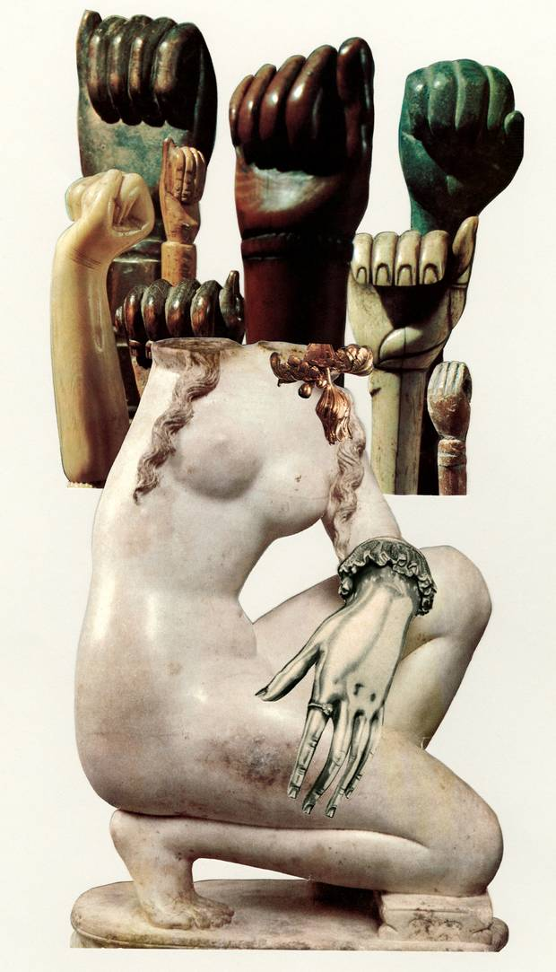 Elizabeth Zvonar: Join the Resistance (2015). Collage print on photo-rag mounted on dibond.