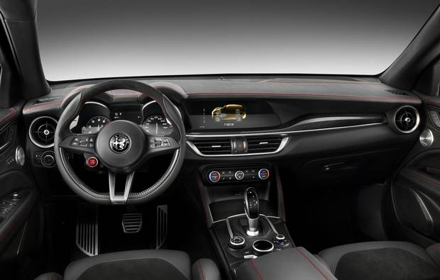 The Stelvio has an eight-speed automatic transmission.