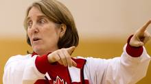 Canadian women's national basketball team coach Allison McNeill directs her team during practice at the University of the Fraser Valley in Abbotsford, B.C., on Wednesday May 16, 2012. DARRYL DYCK FOR THE GLOBE AND MAIL (DARRYL DYCK)