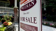 A for sale sign on Euclid Avenue in Toronto. (1--Sarah Dea/The Globe and Mail)