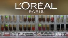 L'Oreal cosmetics are displayed in a shop in Riga, Latvia in this file photo. The Paris-based international company opened a research centre in Mumbai on Thursday to develop products specifically for Indian consumers. (INTS KALNINS/REUTERS)