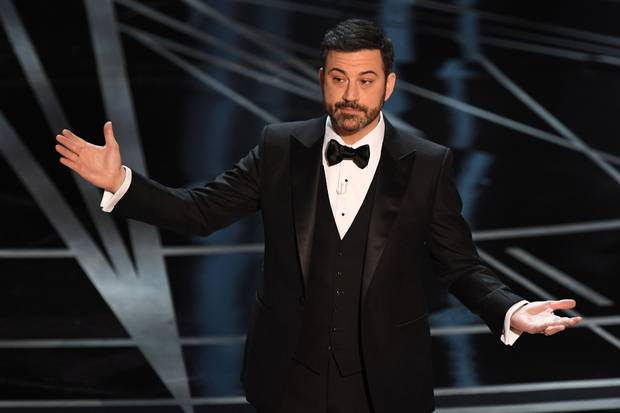 Host Jimmy Kimmel delivers the opening monologue.