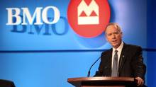 BMO chief executive Bill Downe takes the podium at the bank's annual general meeting in Halifax March 20. (Eric Wynne/THE CANADIAN PRESS/Eric Wynne/THE CANADIAN PRESS)
